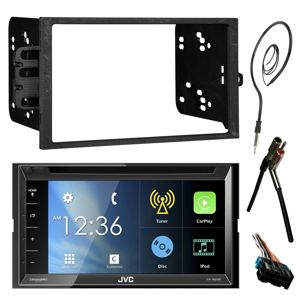 medium resolution of jvc kwv820bt 6 8 touch screen bluetooth cd dvd car stereo receiver bundle combo with metra dash installation trim kit wiring harness for gm vehicles
