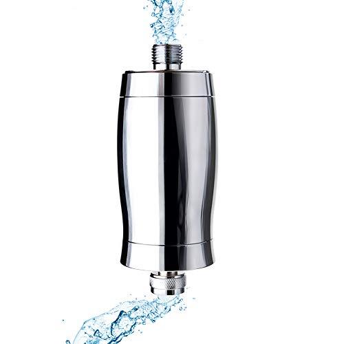 metal shower head water filter deeplite hard water filter for bathtub faucet removes chlorine impurities unpleasant odors boosts skin and hair health