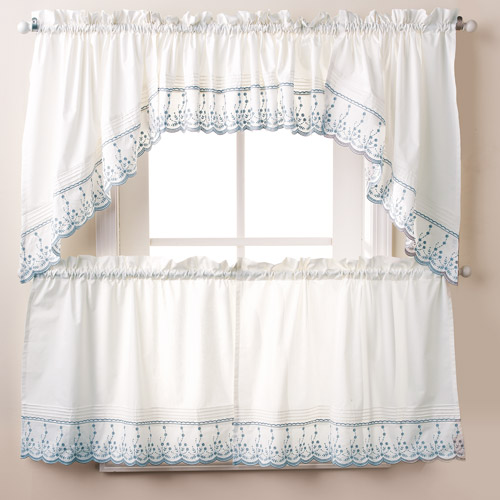 swag kitchen curtains cheap hotels with kitchens abby tier pair or valance wedgewood walmart com