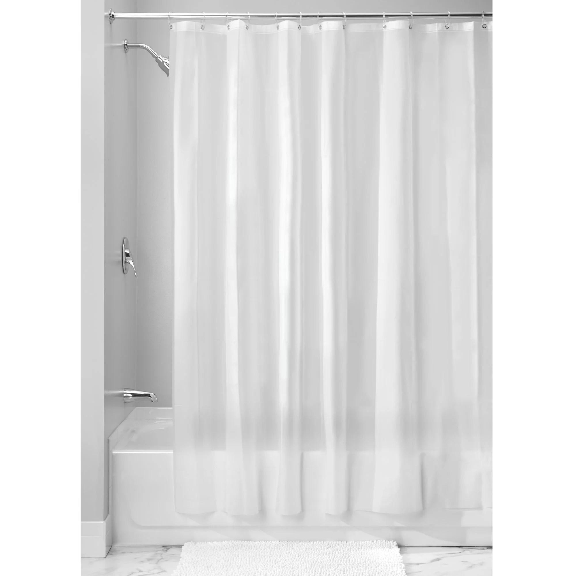 interdesign eva 5 5 gauge shower curtain liner standard 54 x 78 frost