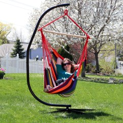 Hammock Chair C Stand Consumer Reports Lift Chairs Sunnydaze Jumbo Extra Large With Sunset For Indoor Or Outdoor Use Max Weight 300 Pounds Walmart Com