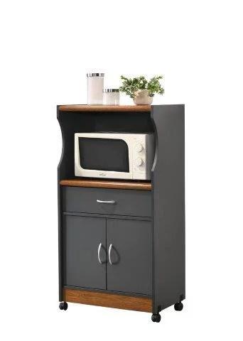hodedah microwave kitchen cart multiple colors