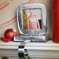 TAG Silver Joy Picture Frame Christmas Stocking Holder ...