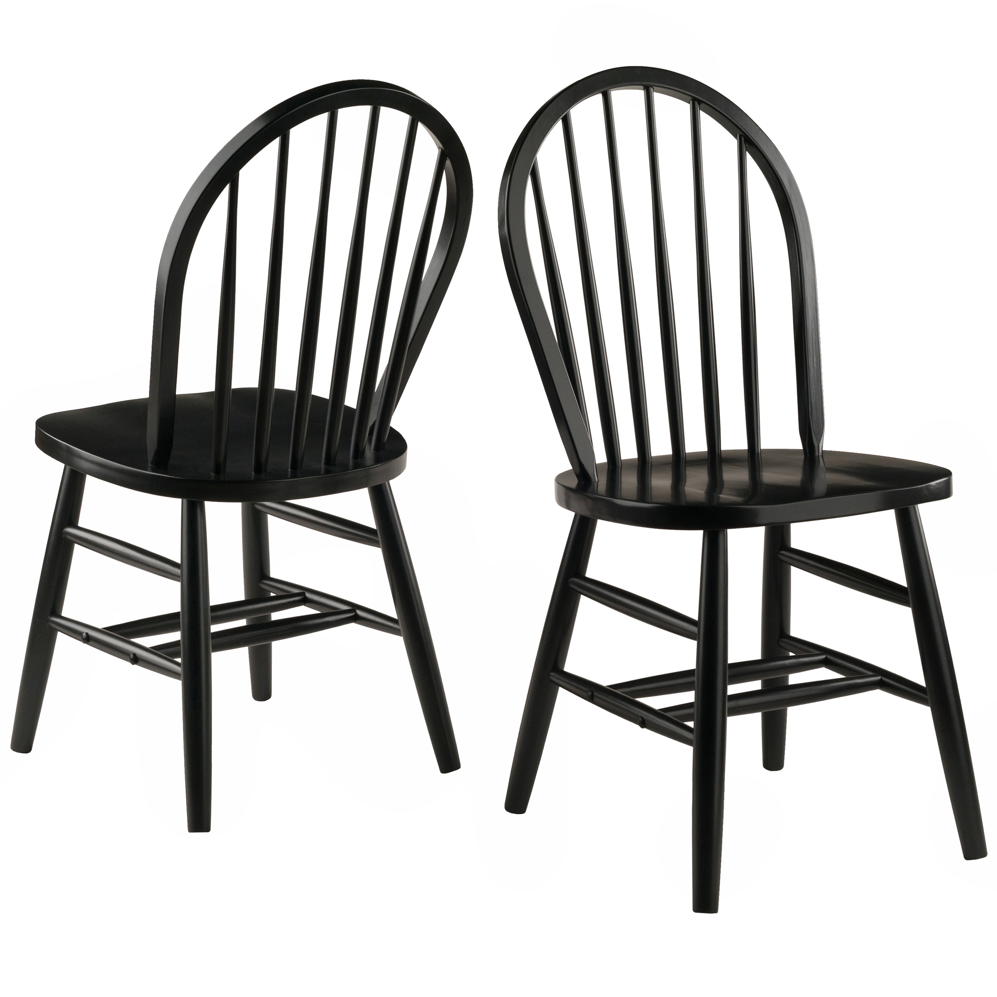 Black Windsor Chair Winsome Wood Windsor Chair 2 Piece Chair Set Rta Black