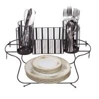 Besti Vintage Buffet Caddy (Black) Utensil, Napkin, and ...