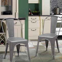 Metal Bistro Chairs Morris For Sale Adeco Stackable Industrial Chic Dining Cafe Side This Button Opens A Dialog That Displays Additional Images Product With The Option To Zoom In Or Out