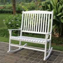 Mainstays Outdoor Double Rocking Chair White Solid