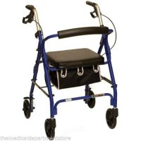 Probasics 4 Four Wheel Rollator Walker with Padded Seat ...