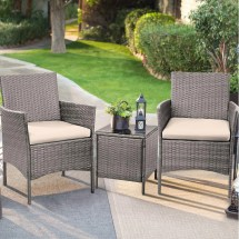 walnew 3 pcs outdoor patio furniture