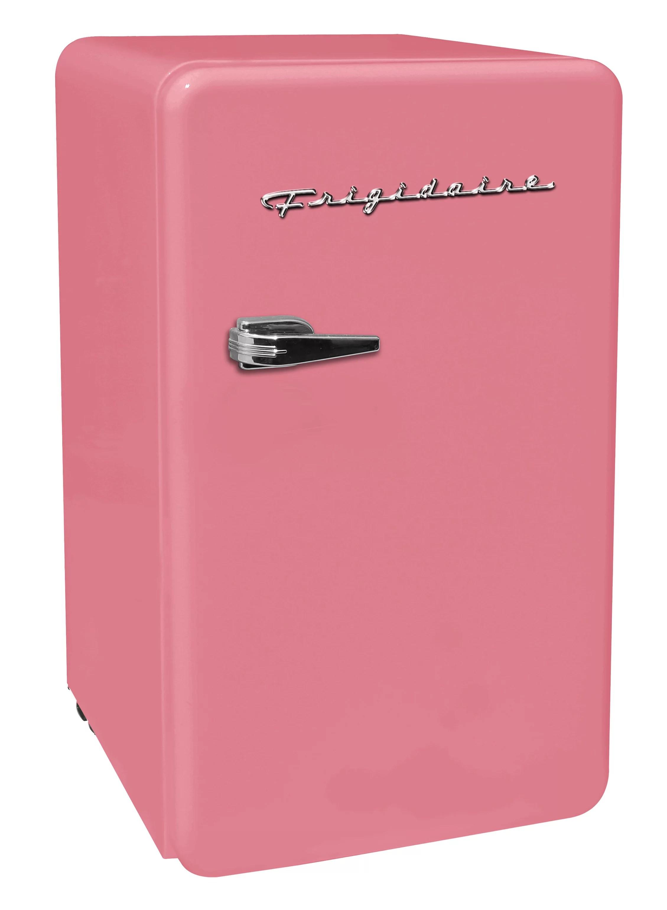 frigidaire 3 2 cu ft single door retro compact fridge efr372 pink walmart com