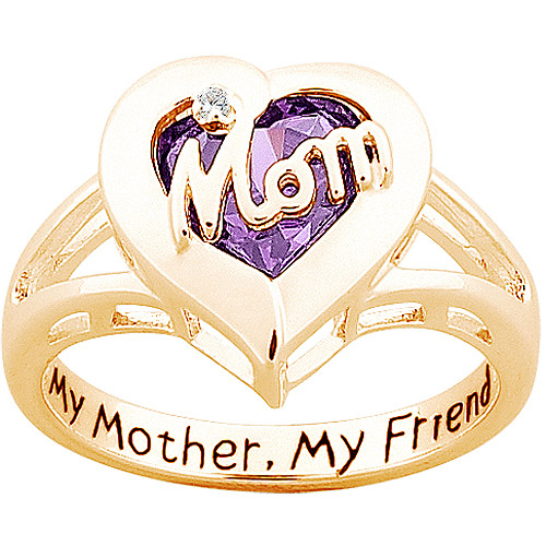 """Personalized Sterling Silver with 18K Gold Overlay """"Mom"""