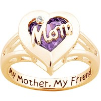"Personalized Sterling Silver with 18K Gold Overlay ""Mom ..."