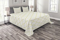 Quatrefoil Bedspread Set, Persian Moroccan Orient Style ...