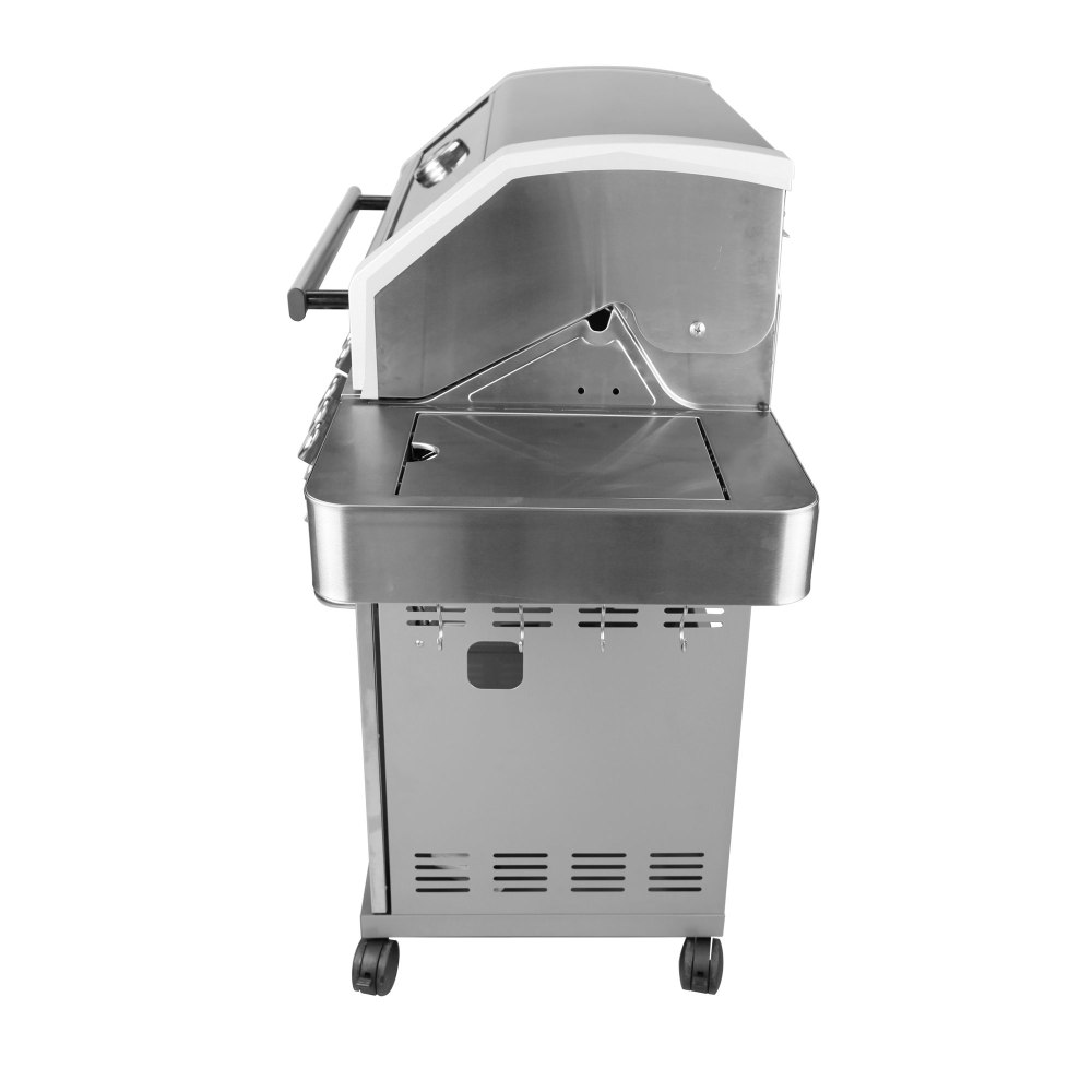 medium resolution of monument grills clearview lid 4 burner with side sear burner propane gas grill walmart com