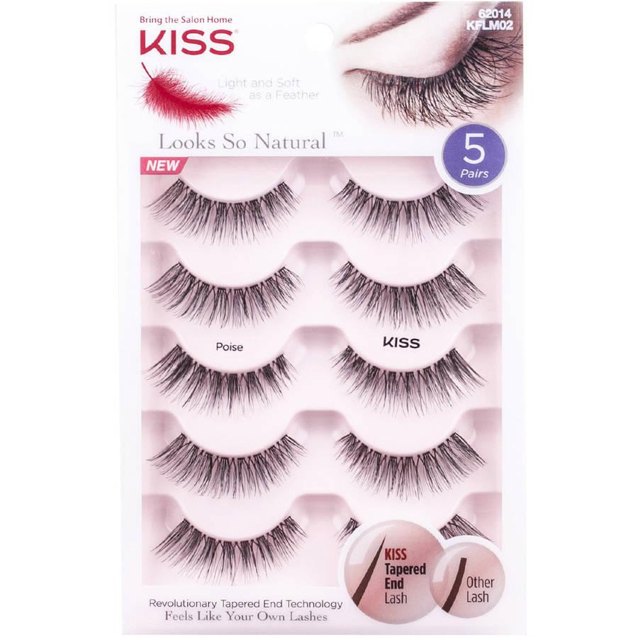 KISS Looks So Natural False Eyelashes Poise 5 pairs