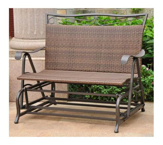 hanging lawn chair martha washington wicker resin steel single patio swing chocolate walmart com