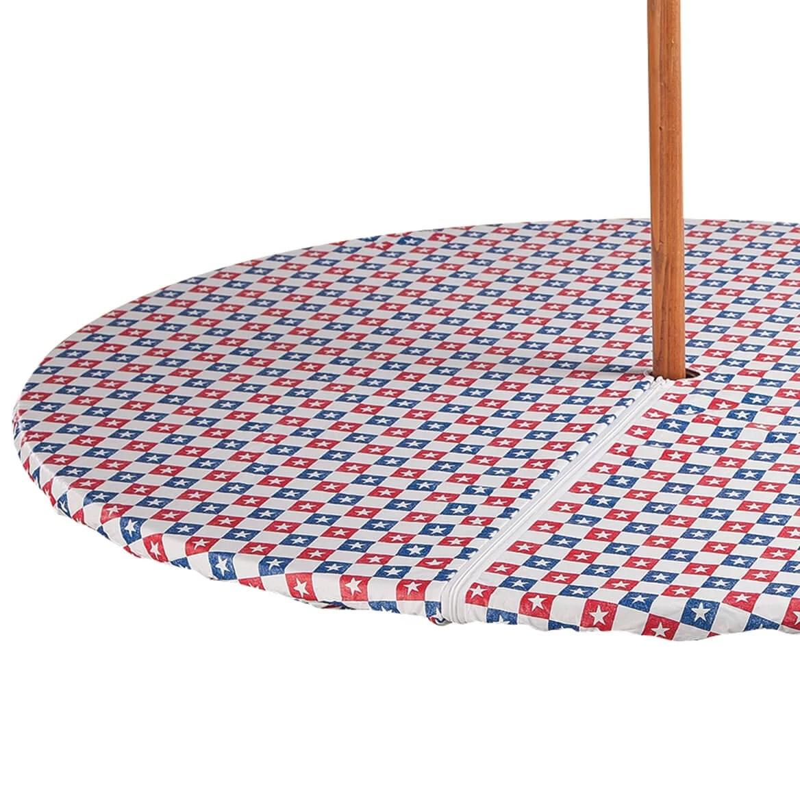 american stars zippered elasticized umbrella table cover