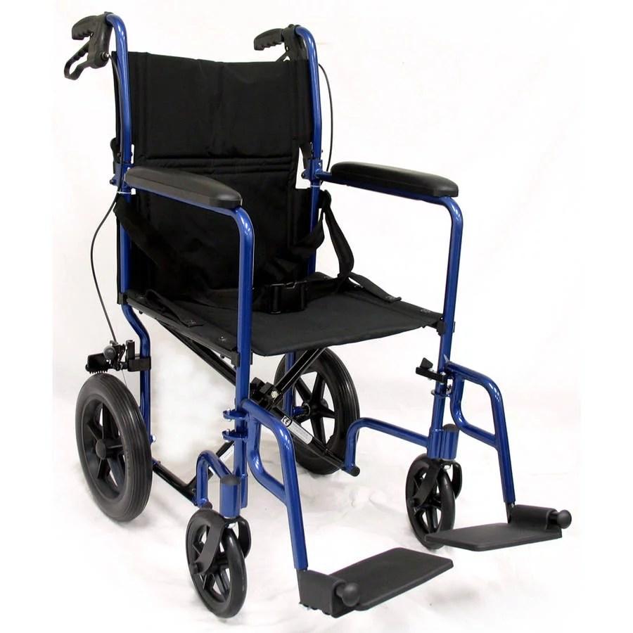 Karman LT1000HB Lightweight Transport Chair with Companion Brakes Blue  Walmartcom