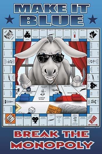 make it blue break the monopoly poster print by richard kelly 24 x 36