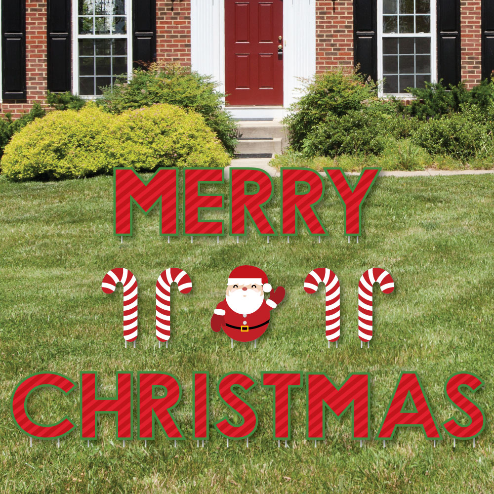 merry christmas - yard sign outdoor