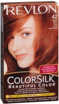 Revlon ColorSilk Hair Color, 42 Medium Auburn 1 ea (Pack ...