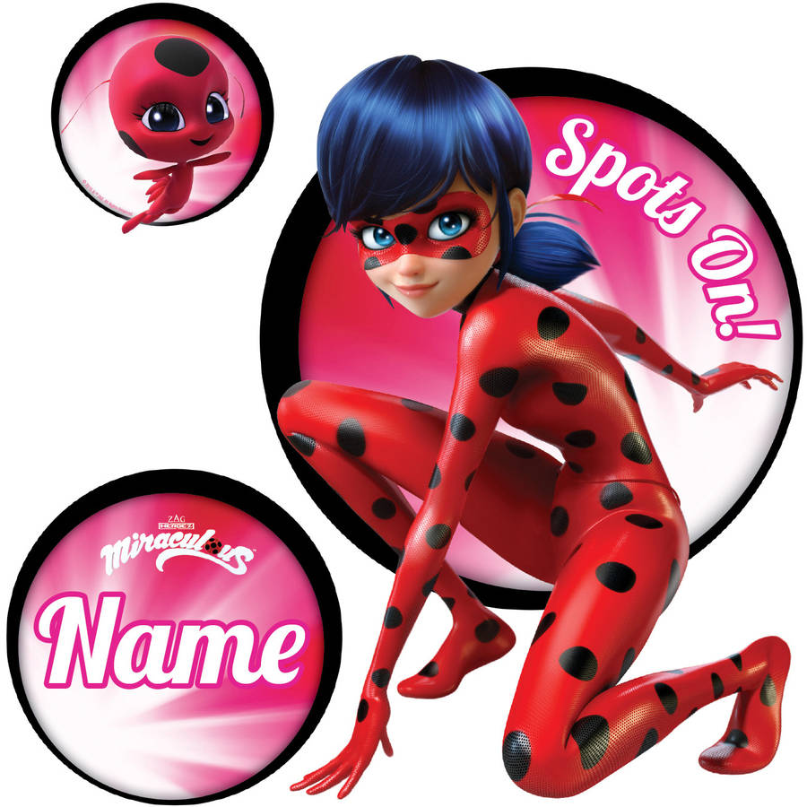Personalized Miraculous Ladybug Spots On Easy Move Canvas