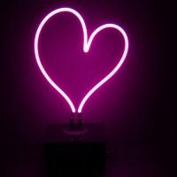 Neon Mfg. Heart Desktop Neon Sign - Walmart.com