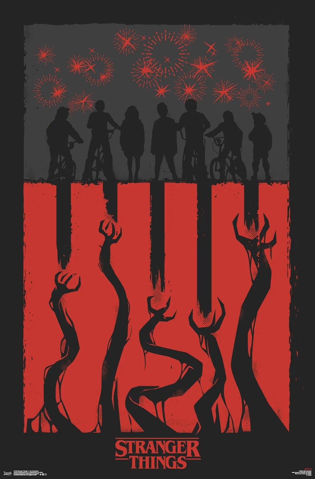 stranger things 3 4th illustration poster