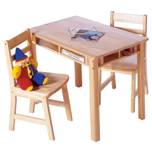 walmart childrens table and chairs high back with arms lipper rectangular chair set - walmart.com