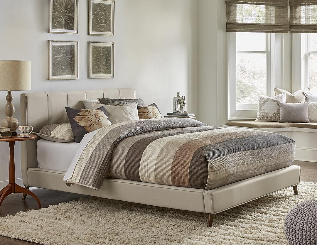 hillsdale furniture aussie upholstered king platform bed frame with headboard