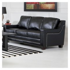 Black Leather Sofa With Nailheads Scs Sofas Reviews Mercer41 Newberry Nailhead Trim In Walmart Com Departments