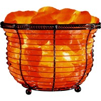 Himalayan Ionic Natural Salt Basket Lamp