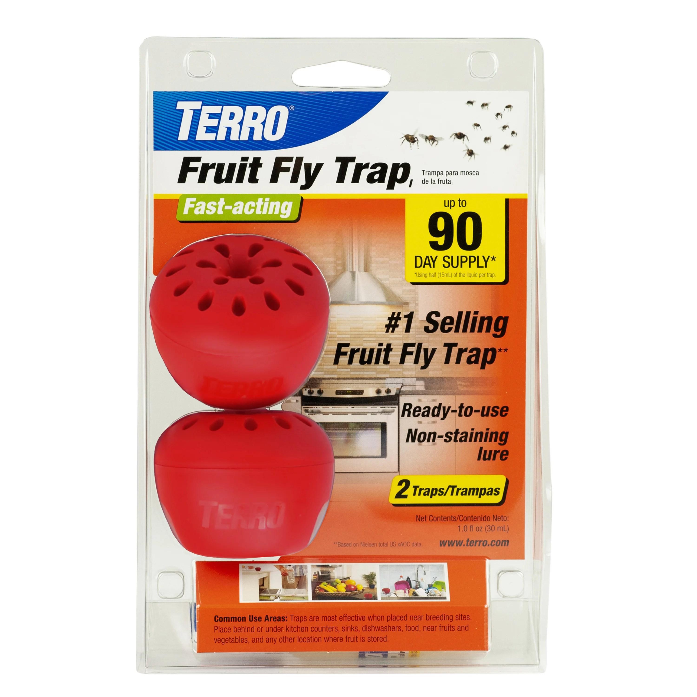 TERRO Fruit Fly Trap - 2 traps - Walmart.com