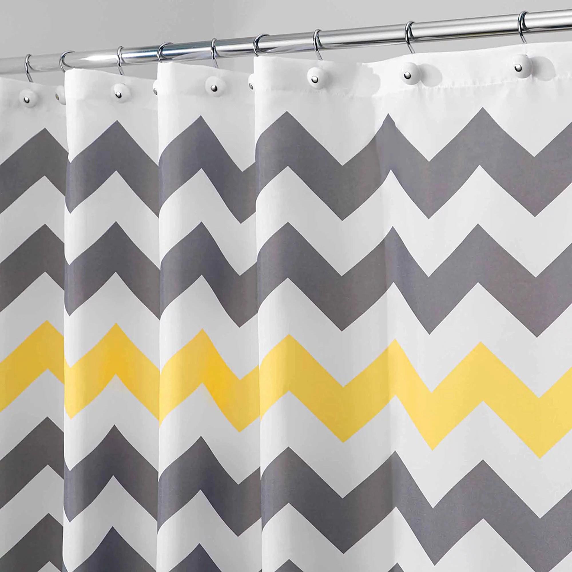 InterDesign Chevron Shower Curtain Walmart Com