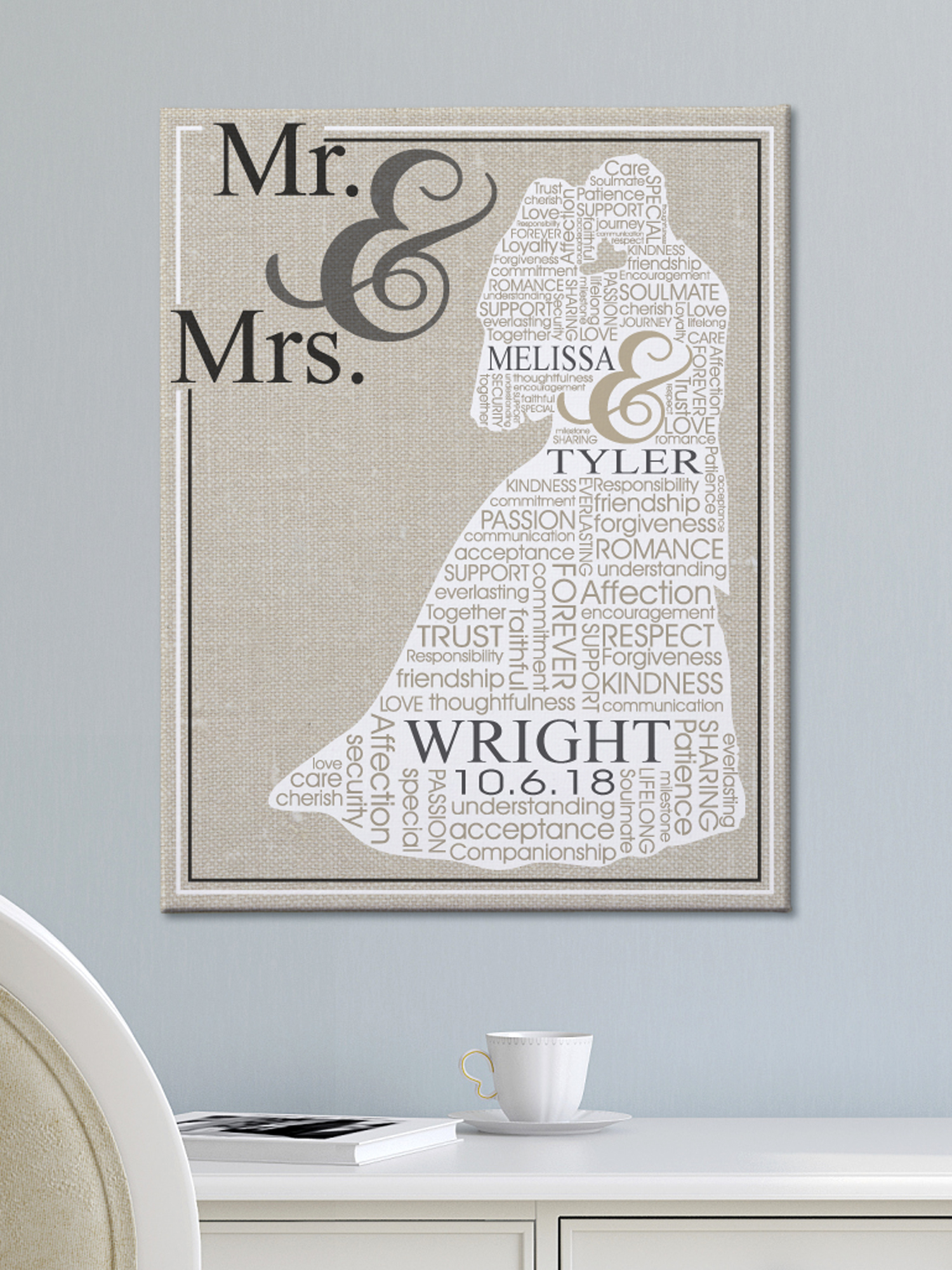 personalized loving words wedding