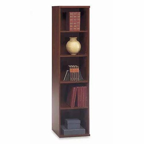 Bbf Series C Open 5 Shelf Single Bookcase Dark Cherry