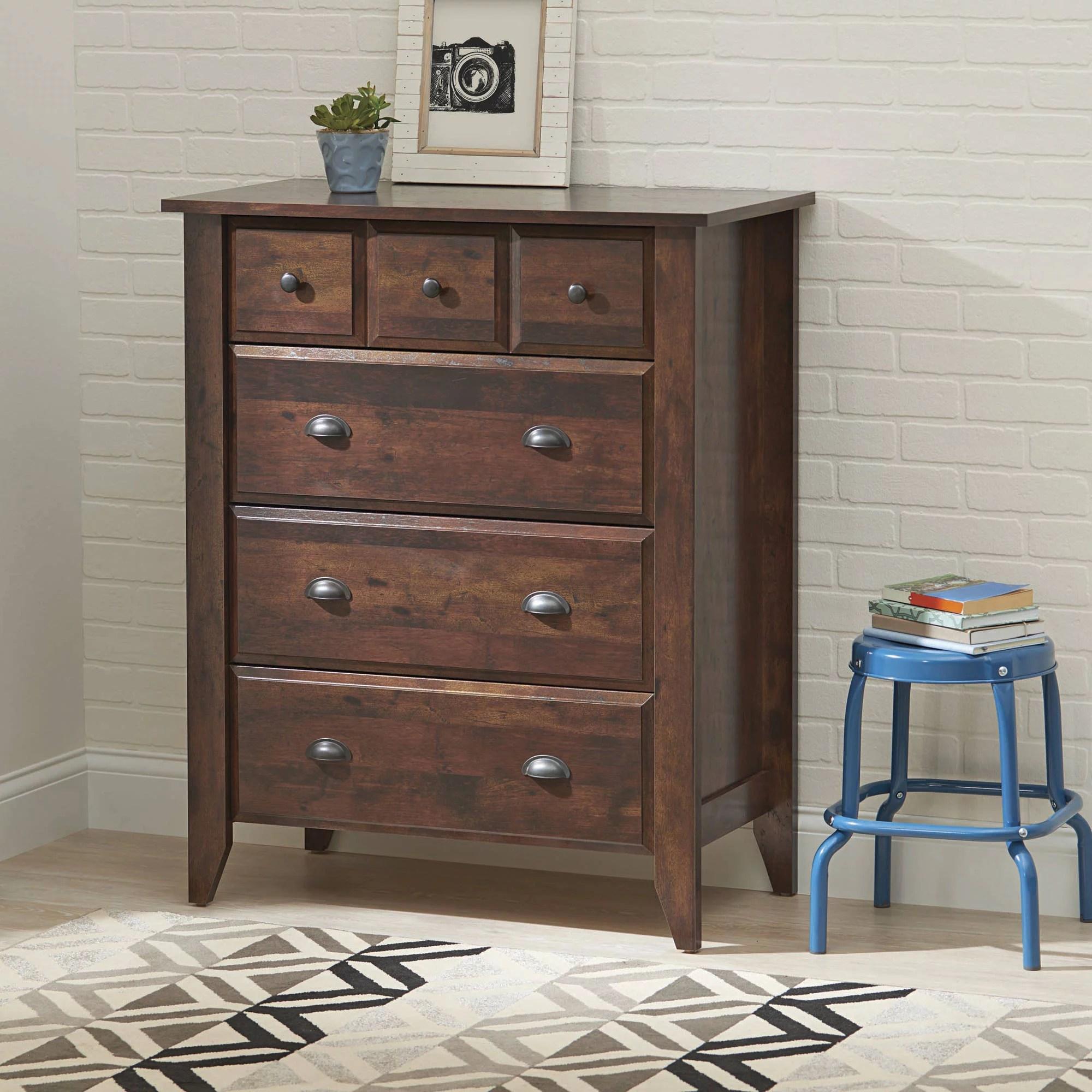 better homes gardens leighton 4 drawer dresser rustic cherry finish walmart com
