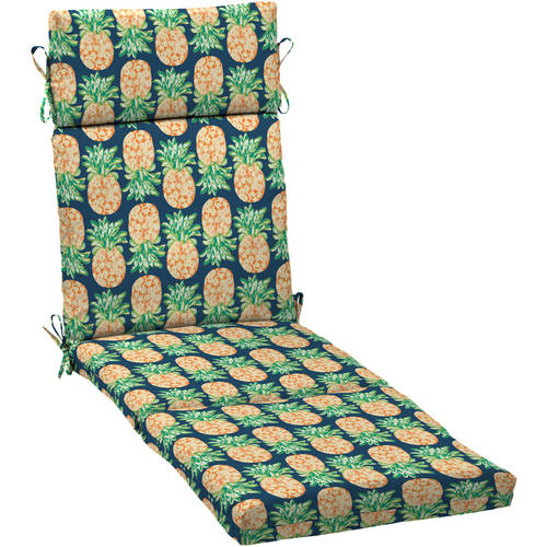 mainstays pineapple outdoor patio chaise lounge cushion 72 l x 21 w x 4 h