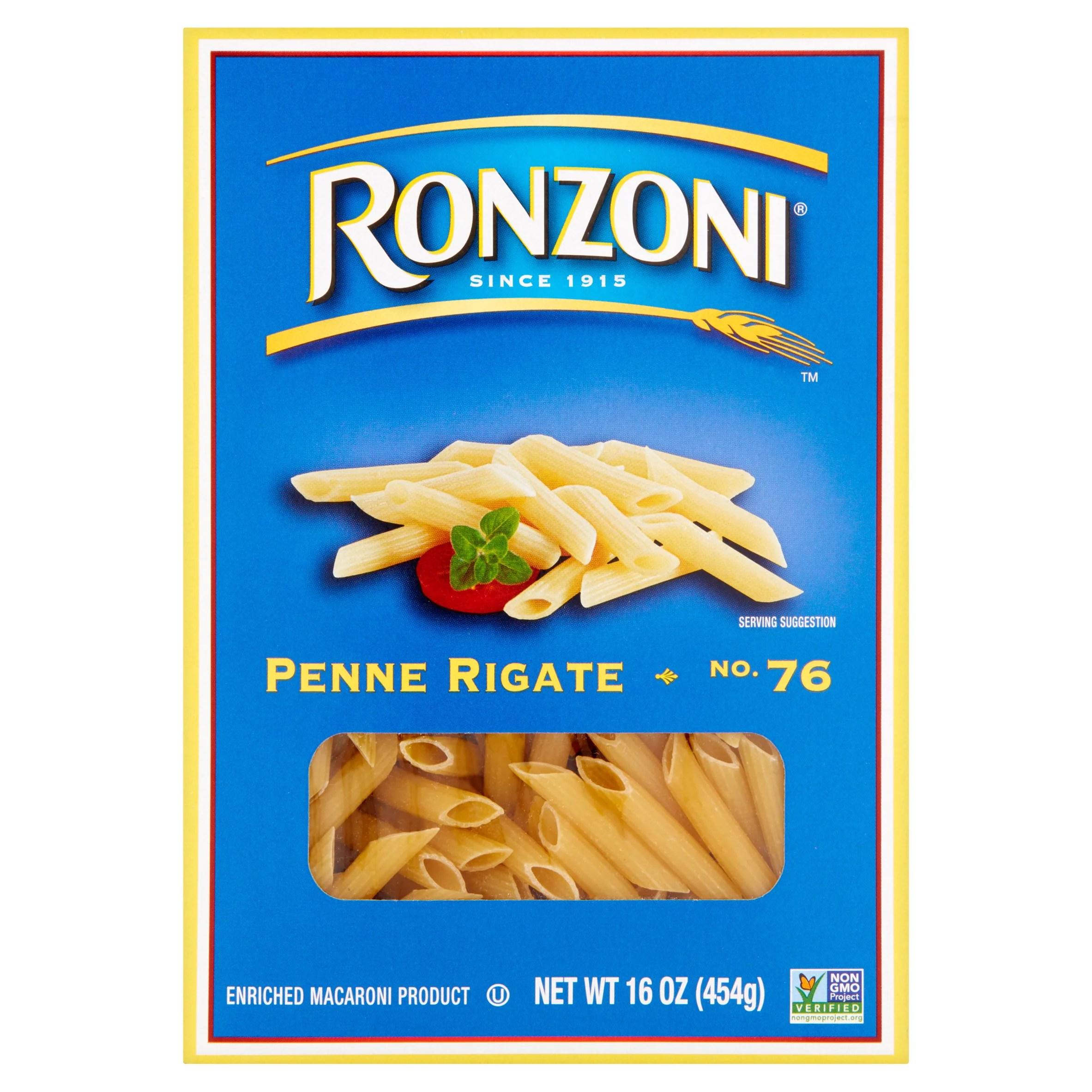 UPC 071300000762 Ronzoni Penne Rigate 16 oz