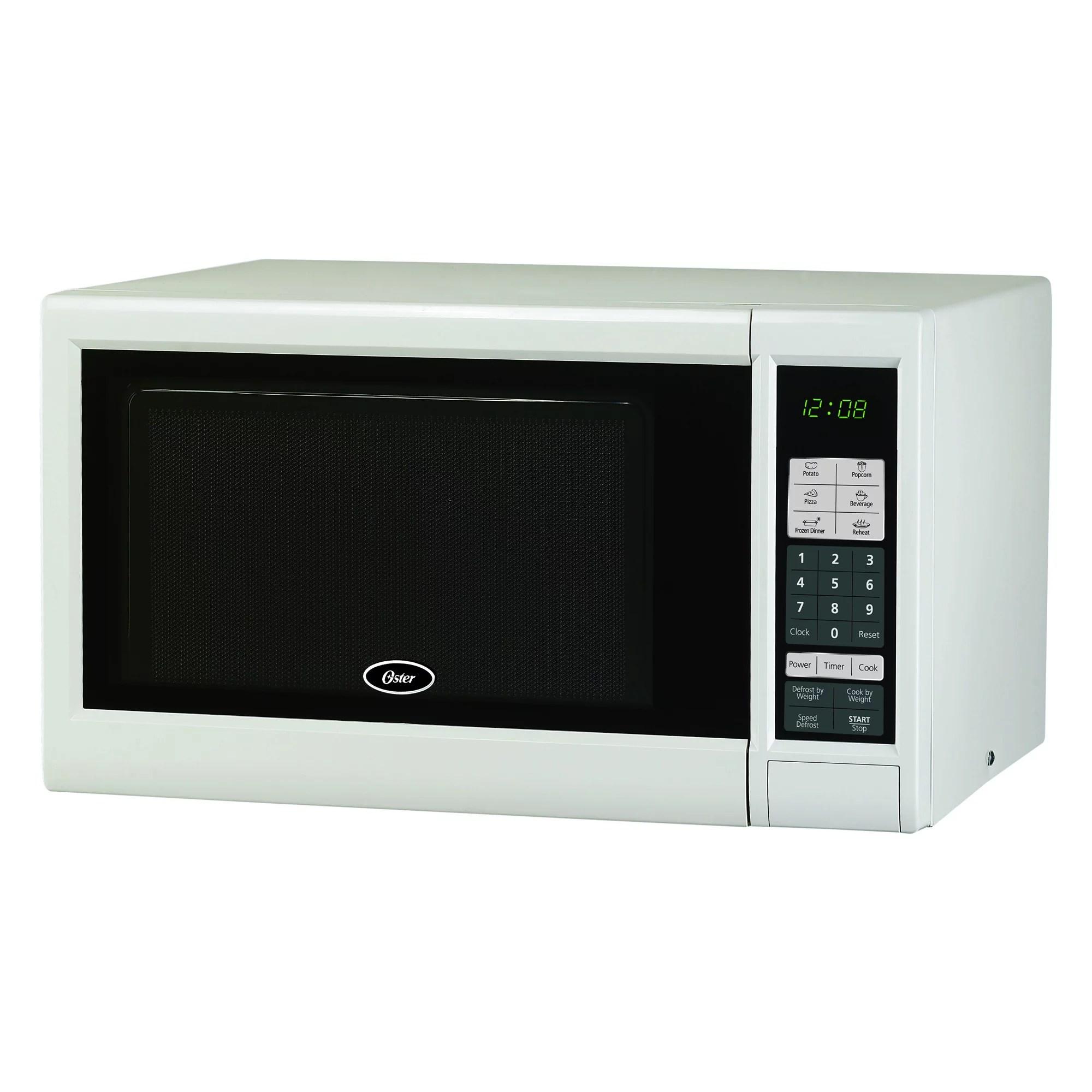 oster ogm41101 1 1 cu ft 1000w digital microwave oven white walmart com