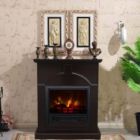 Decor-Flame Electric Space Heater Fireplace with 26 ...