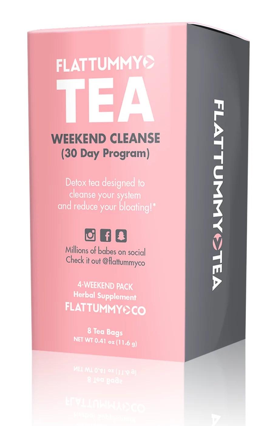 Flat Tummy Tea Natural Metabolism Boosting Teatox System ...