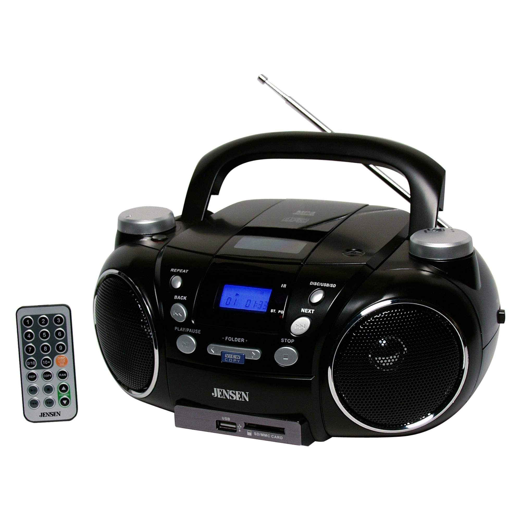 hight resolution of jensen cd 750 portable am fm stereo cd player with mp3 encoder player walmart com