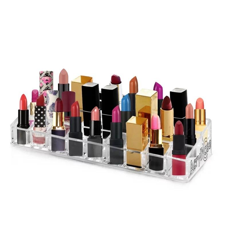 Acrylic Makeup and Lipstick Organizer Brush Holder Beauty