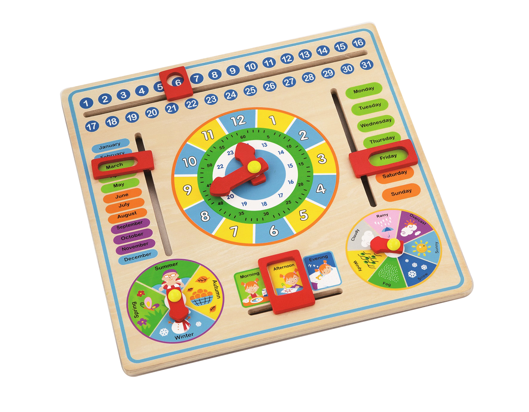 Time Telling Game Teach Time Clock Educational Toy For