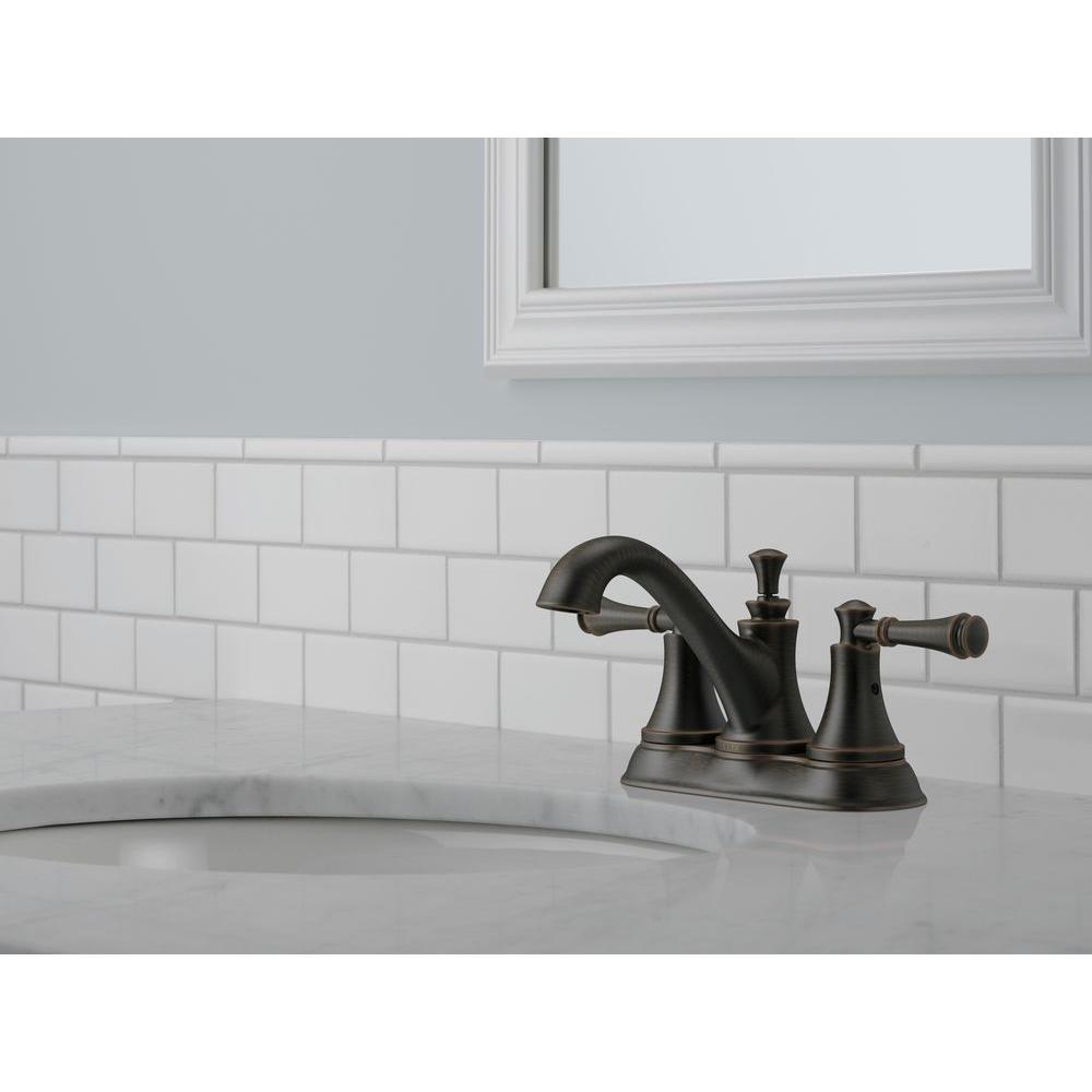delta silverton 4 in centerset 2 handle bathroom faucet in spotshield venetian bronze 25713lf rb