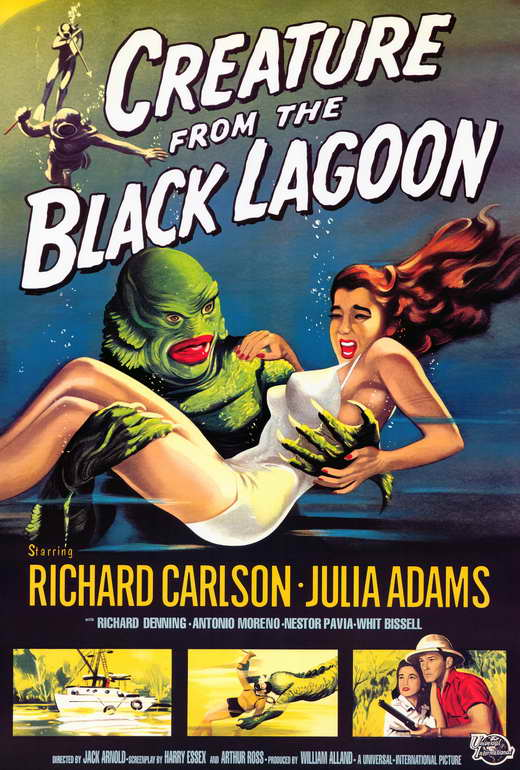 creature from the black lagoon movie poster 27 x 40 style a