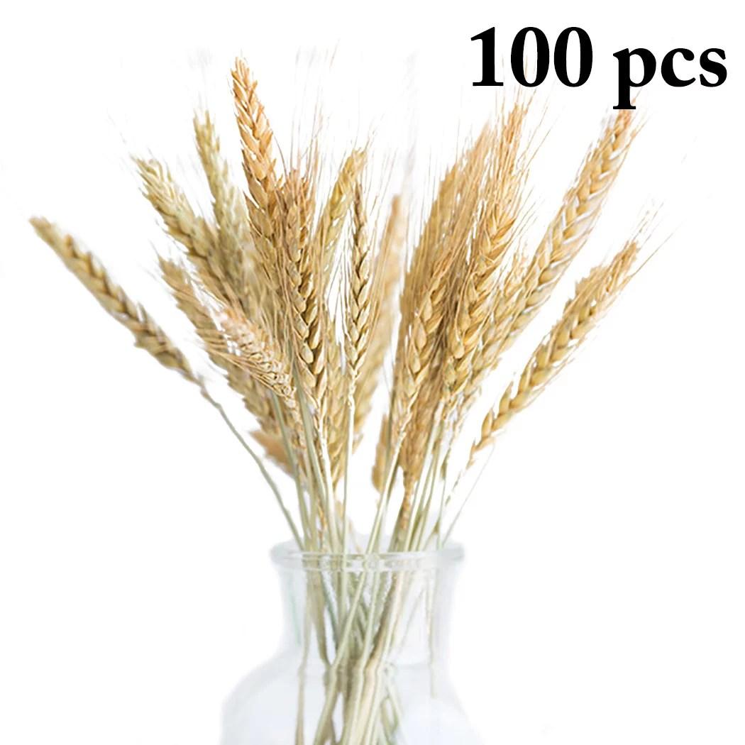 100pcs artificial wheat grass