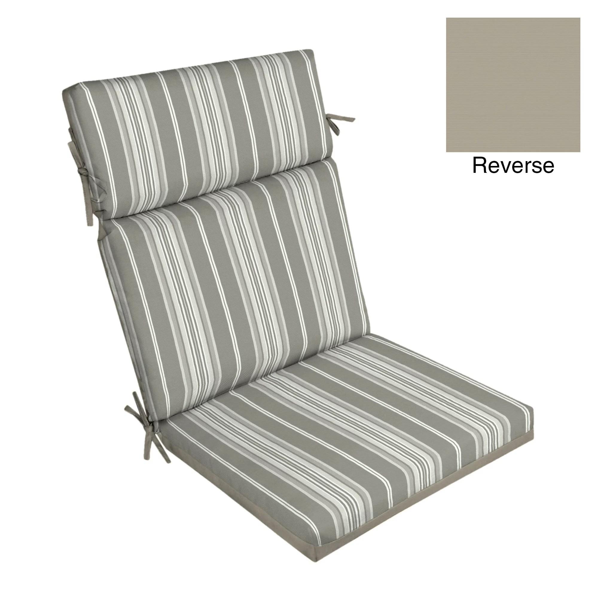 better homes gardens gray stripe 44 x 21 outdoor chair cushion