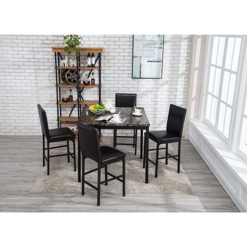 red counter height dining chairs what is a shower chair barrel studio andreana set walmart com